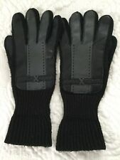 Black Grey Unisex Mens Womens Faux Leather Gloves Mittens Aris M