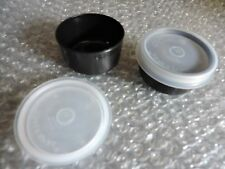 Tupperware SMIDGETS lot of 2 pill containers, etc. ++FREE SHIPPING Color BLACK