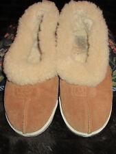 UGG~#1980 TAN Sheepskin Lined Slippers Shoes Hard Sole WOMEN/MEN/CHILD Sz 4 RARE