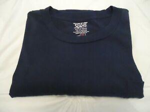 Men's Polo Ralph Lauren Navy Long Sleeve Cotton Crew Neck Pocketed T-Shirt 3XLT