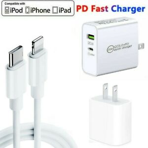 USB C Fast Wall Charger PD Power Adapter For iPhone 13/12/11 Pro Max XR XS iPads