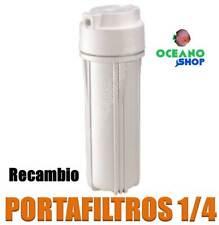 """PORTAFILTROS VASO DE OSMOSIS INVERSA 1/4"""" RECAMBIO CON JUNTA TÓRICA"""