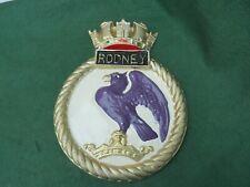ROYAL NAVY BATTLESHIP HMS RODNEY CAST ALUMINIUM SHIPS PLAQUE
