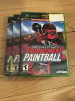 GREG HASTINGS' TOURNAMENT PAINTBALL - XBOX - COMPLETE WITH MANUAL - FREE S/H (G)