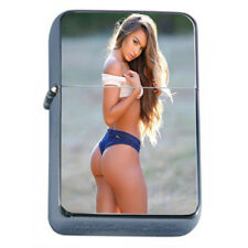 Farmers Daughter Pin Up Girls D8 Flip Top Oil Lighter Wind Resistant With Case