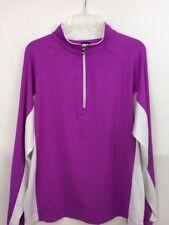 FootJoy Jacket Purple White 1/4 Zip Golf Pullover Long Sleeve Woman's Size L EUC