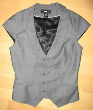 H&M Weste 34 XS/S grau Knopfleiste Stretch Business/Büro Kellner/Ober über Shirt