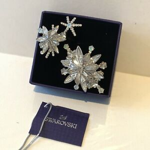 Swarovski Crystals Size 58 Double Ring Merry Cocktail Flowers
