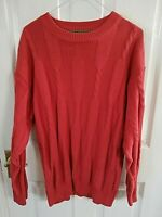 HEATHWAY WOMENS DARK ORANGE CABLE KNIT JUMPER SIZE 14 M PIT TO PIT 20 LENGTH 28