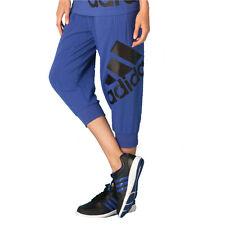 Womens Ladies adidas Capri 3/4 Pants Leggings Jogging Gym Bottoms - Purple Regular S