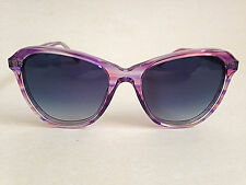 New Genuine Wildfox Square Cat Sunglasses Blue Gradient Clear Pink Frame $169