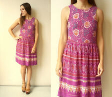 MINKPINK Indian Woodblock Printed Hippie Style Floral Mini Dress Size XS