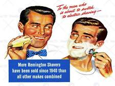 ADVERT HEALTH BEAUTY SHAVE ELECTRIC FOAM CLEAN RAZOR USA ART PRINT POSTER BB7009
