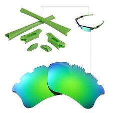 WL Polarized Emerald Vented Lenses And Rubber Kit For Oakley Flak Jacket XLJ