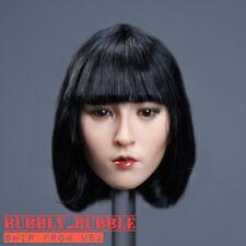 1/6 Asian Beauty Head Sculpt Short Hair For PHICEN Hot Toys Figure SHIP FROM USA