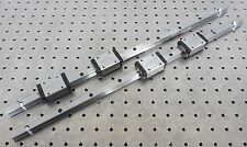 C120301 Lot 2 CPC Linear Slide Rails (15mm wide x 540mm long) w/4 Bearing Blocks