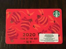 """Canada Series Starbucks """"YEAR OF THE RAT 2020"""" Gift Card - New No Value"""