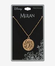 Disney MULAN DRAGON MEDALLION PENDANT NECKLACE Officially Licensed