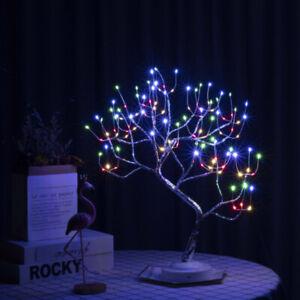 108 LED Christmas Birch Tree Light Up White Bonsai Twig Tree Easter Home Decor