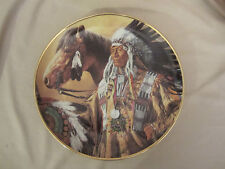 Pride Of The Sioux collector plate Paul Calle Indian Franklin Mint Native Am.
