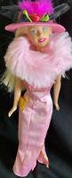 Vintage 1966 Twist & Turn Barbie Doll Long Blond Hair Bendable Knees Fedora wrap