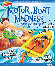 MOTOR BOAT MADNESS & SONIC ELECTRONICS EDUCATIONAL SCIENTIFIC EXPLORER KIT