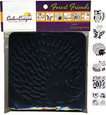 Cedar Canyon Textiles Rubbing Plate set of 6 Forest Friends hedgehog Owl fox +