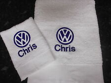 PERSONALISED VW BADGE TOWEL SET