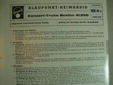 C645/ Blaupunkt-Heimradio Stereo Spitzentruhe Konzert Truhe Boston 41250 Abgl.