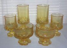 6 FRANCISCAN Madeira Yellow Cornsilk Beverage Glasses 1970's era