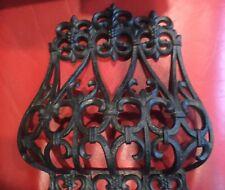 Vtg 1977 Gateway Home Decorators Newark Ny Faux black wrought iron wall Hanging