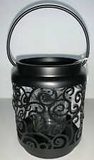 Yankee Candle BLACK SCROLL Votive Candle Holder New In Box