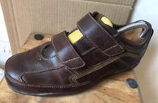 Men's TIMBERLAND 'Smart Comfort' Hook & Loop Leather Shoes - Size 8 (UK) Wide