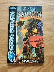 GUN GRIFFON SEGA SATURN MANUAL ONLY PAL UK - FREE P&P