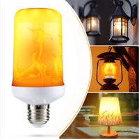 4Modes LED Flame Effect Simulated Fire Light Bulb E27 Flickering Lamp Decor One