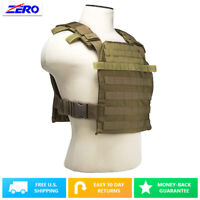 """MOLLE PALs Fast Plate Carrier Vest for 10""""X12"""" Plates 1050 Nylon Adjustable Tan"""