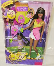 NRFB BARBIE ~ AA SO IN STYLE GRACE & SISTER COURTNEY TENNIS FUN MATTEL DOLL MIB