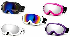 Kids Snowboarding Snow Goggle Mirror Flash Dual Lens Cloud 9 UV Protection Youth