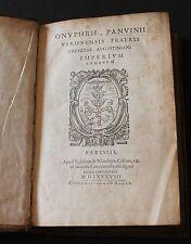 PANVINIO, ONOFRIO; FRONTINUS, SEXTUS JULIUS.  PARIS 1588.
