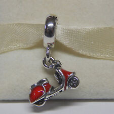 New Authentic Pandora Charm Red Enamel Scooter Dangle 791140en42 Box Included
