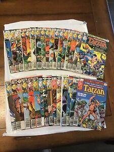 Lot of (32) Marvel Comics Tarzan #1-29 & Annual #1-3 Full Run Mid Grade