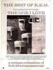 "5/10/91 Pgn17 THE BEST OF R.E.M FT THE ONE I LOVE ALBUM ADVERT 15X11"""