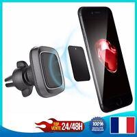Support Smartphone à aimant universel magnétique 360° pour voiture Apple Samsung