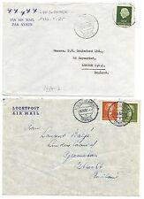 NEDERLAND   S.M.N. 1952/1963   M.S.ORANJE  2 x COVER POSTAGENT  F/VF   @10