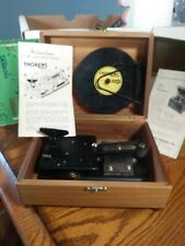 Antique Vintage Thorens Disc Music Player Wooden Box Chest w 5 Discs not working