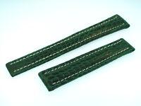 Breitling Band 18mm Croco grün green verde Strap für Faltschliesse IB18-26