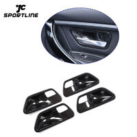 Carbon Look Car Door Handle Bowl Cover For BMW 3 4 Series F30 F32 F34 2014-2019