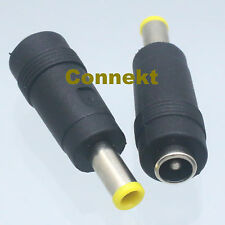 2pcs DC Power 5.5x3.0x1.0mm Male Plug pin to 5.5x2.1 mm Female Adapter Connector