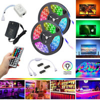 RGB LED 10-15M Strip Light Tape XMAS Cabinet Kitchen Ceiling WATERPROOF 3528 12V