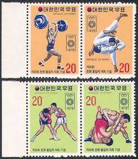 Korea 1972 Olympic Games/Olympics/Sports/Judo/Boxing/Wrestling 4v set (n41848)